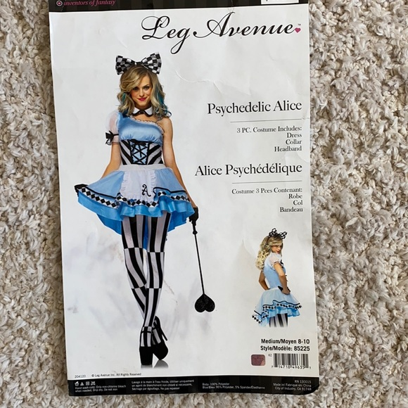 Alice in wonderland adult costume